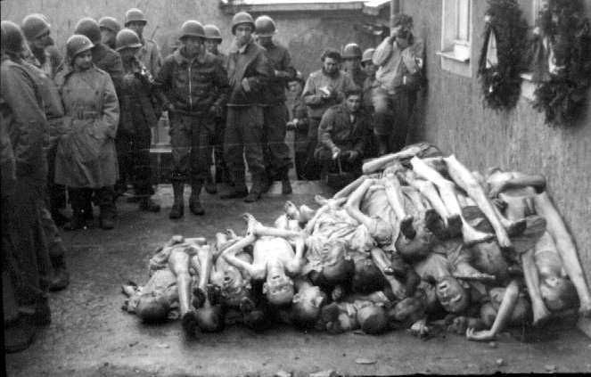 Buchenwald corpses piled high